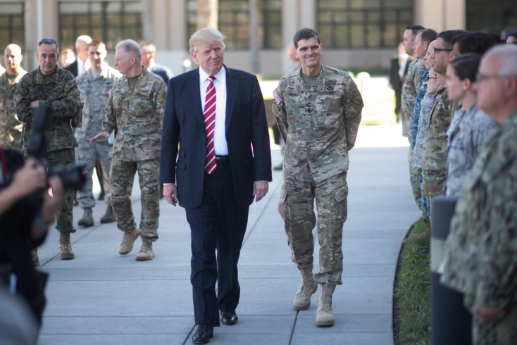 Image result for MacDill Air Force Base in Tampa, Florida, Army Gen. Joseph L. Votel