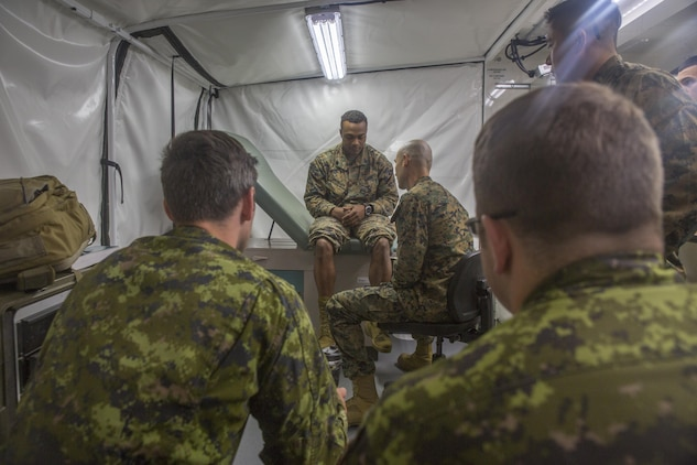 Navy Corpsmen hold training with Canadian Armed Forces medical