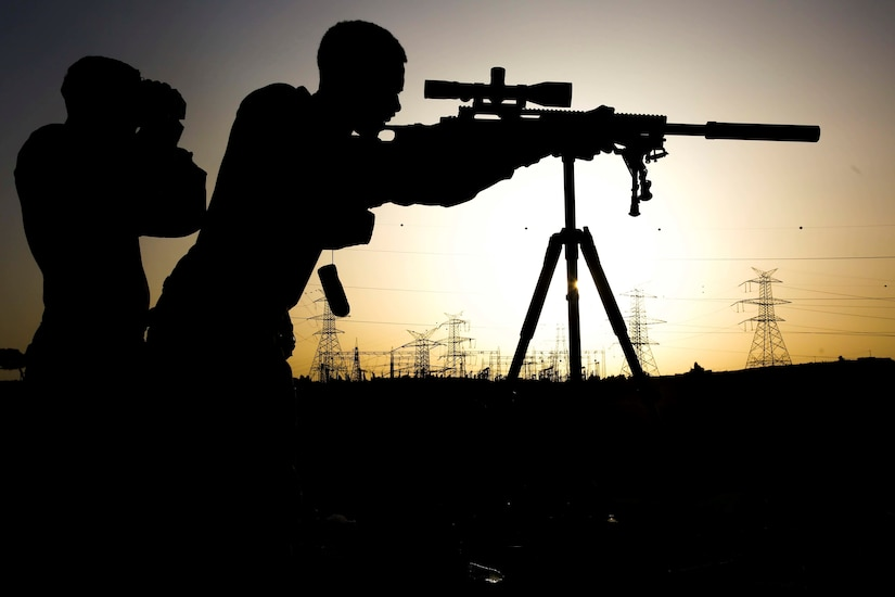 Marine Snipers Train Throughout Deployment \u003e US DEPARTMENT OF