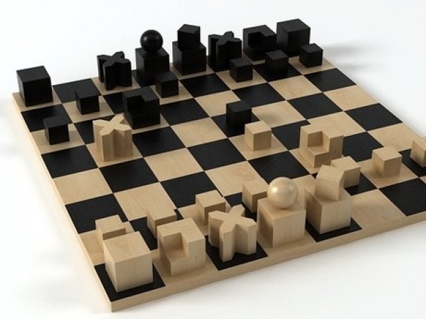 Bauhaus Schachspiel Bauhaus Chess Pieces 3d Model | Naef Toys, Switzerland