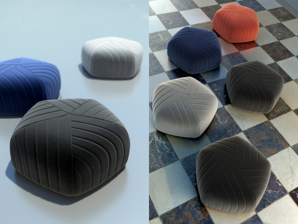 Pouf Vintage Five Pouf 3d Model | Muuto