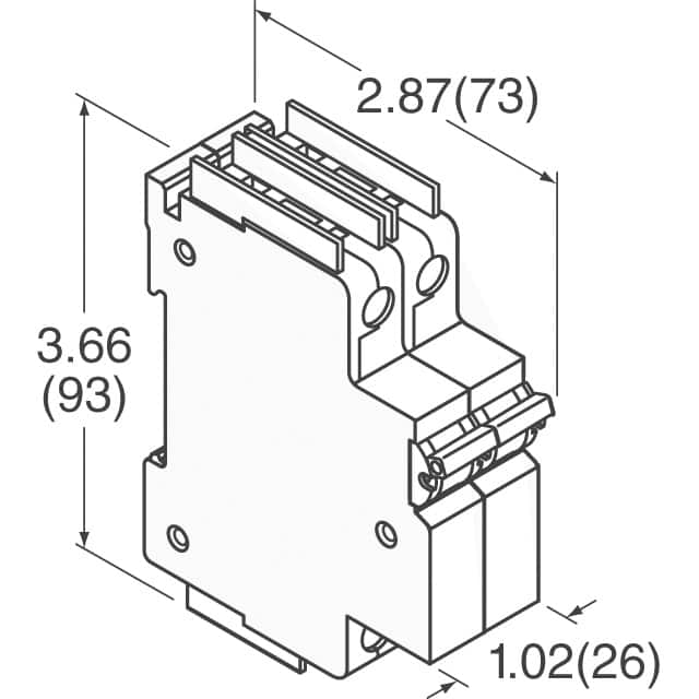 electrical fuses holders circuit breakers din rail mounted