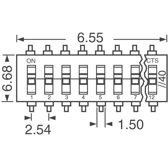 dip switch 8 position artekit