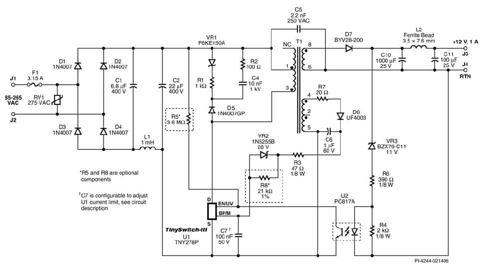 12v dc smps power supply circuit diagram