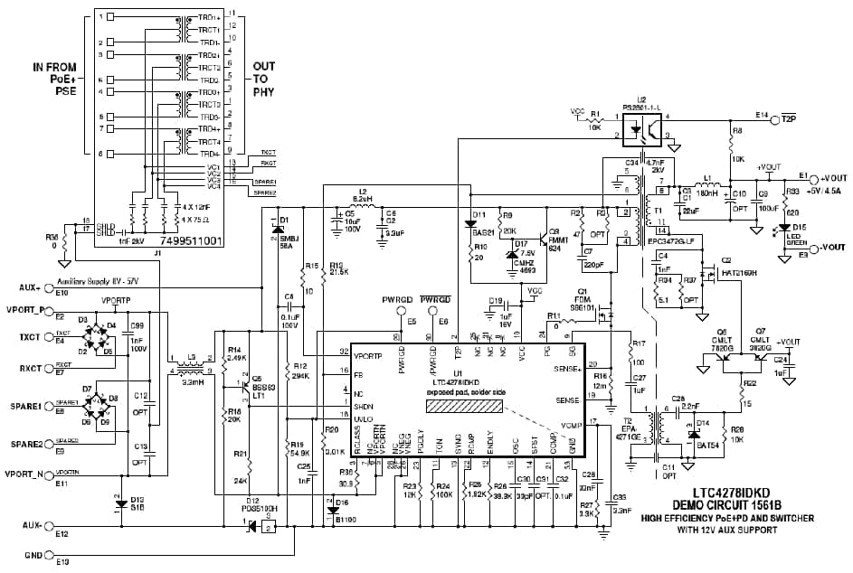 power over ethernet circuit