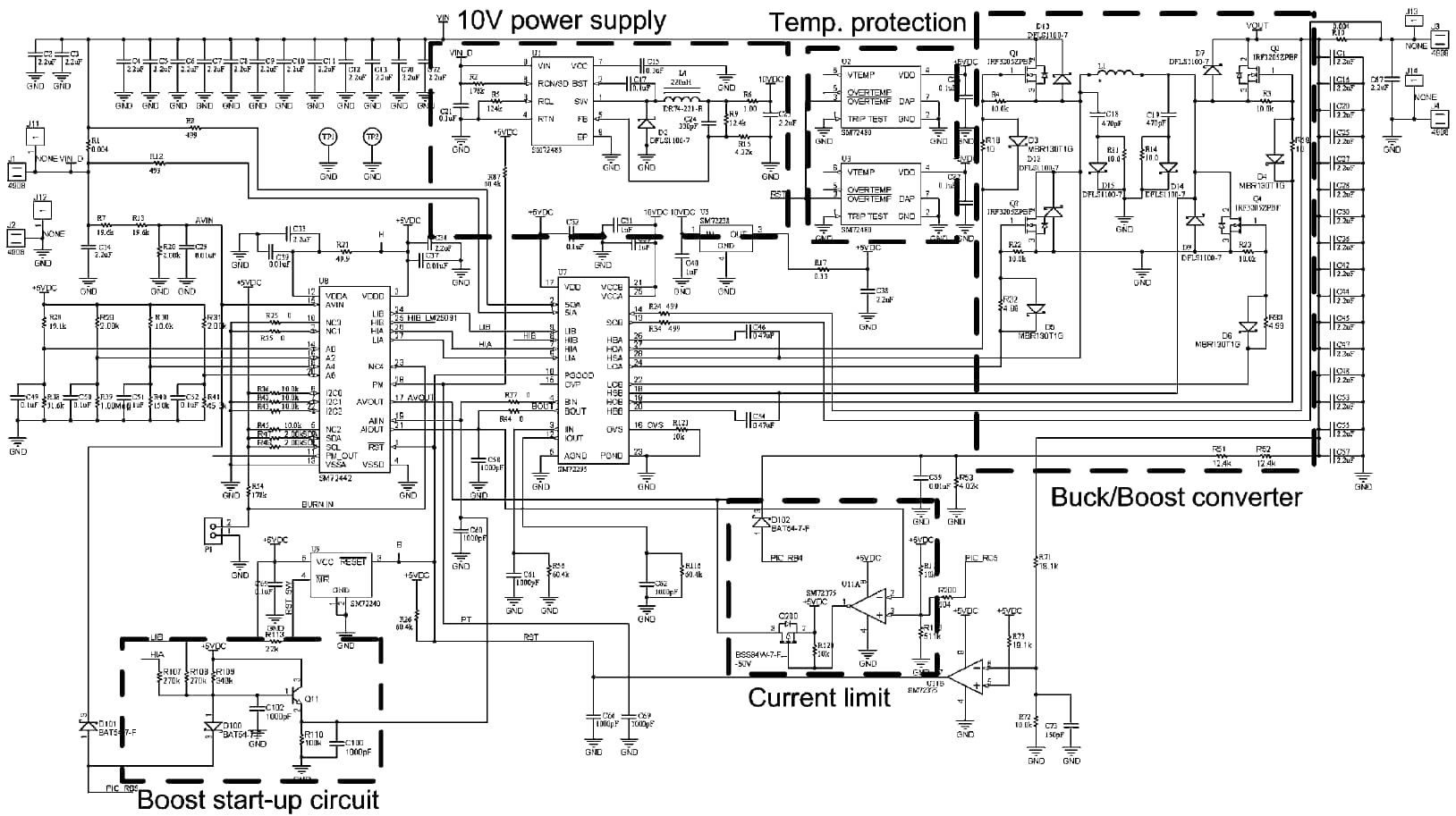 solar charge controller application schematic diagram