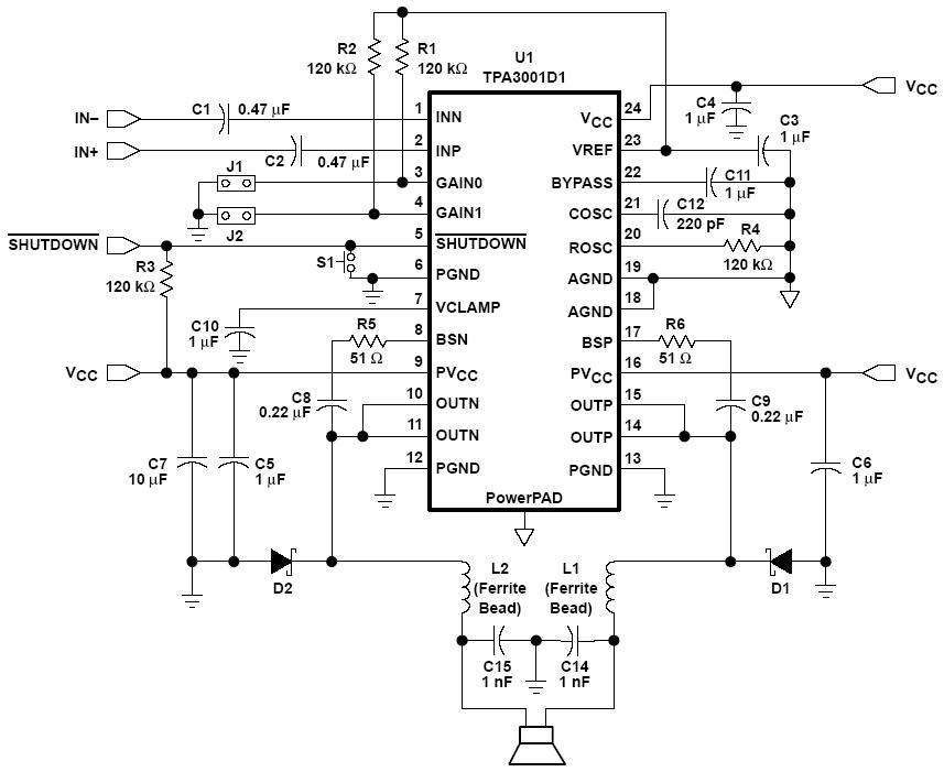 low voltage audio power amplifier ts4984 low voltage audio power