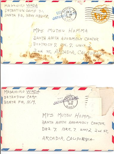 Envelopes - Santa Fe New Mexico to Santa Anita Assembly Center - Santa Envelopes