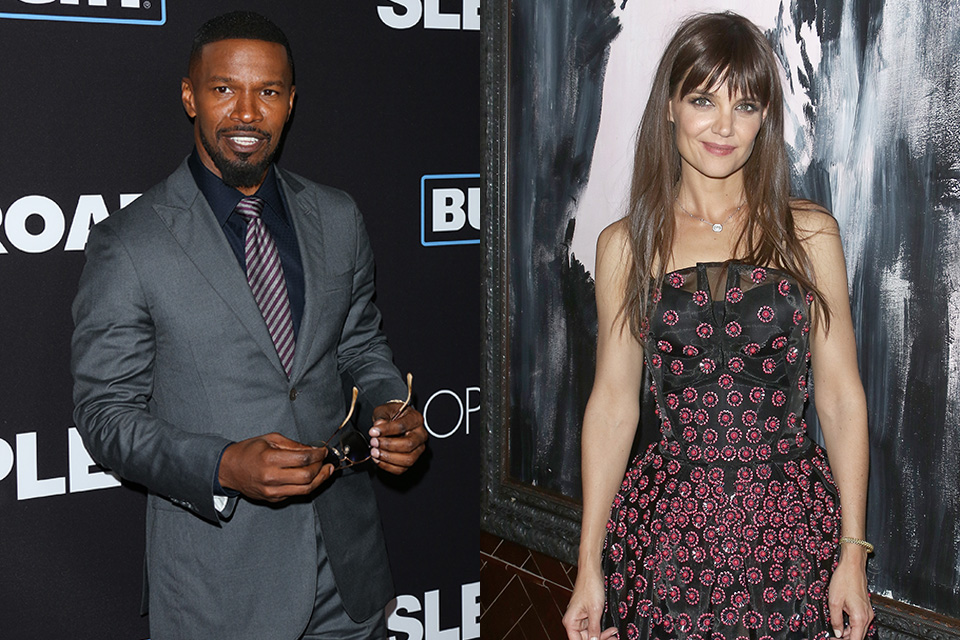 Jamie Foxx Katie Holmes Spotted On New Year39s Eve Date