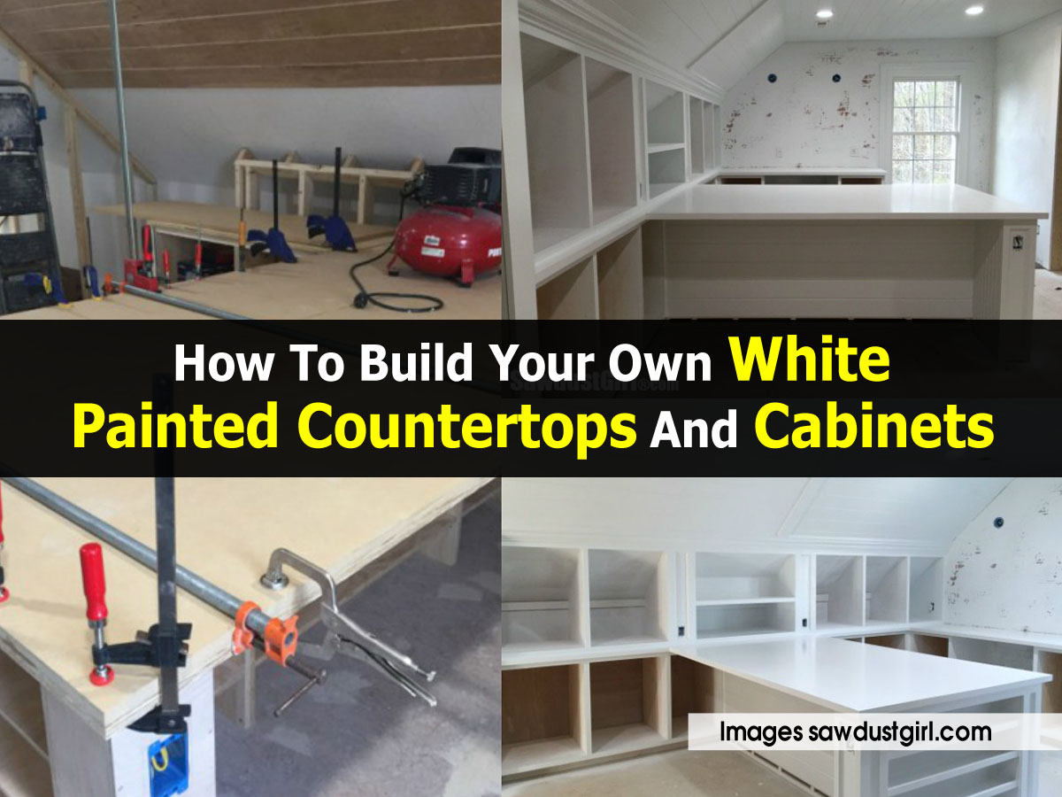 How To Build Kitchen Countertops How To Build Your Own White Painted Countertops And Cabinets