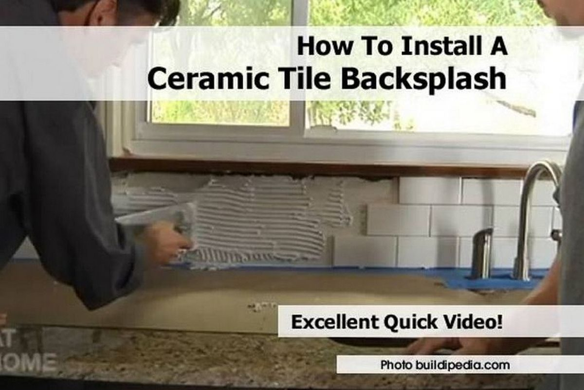 install ceramic tile backsplash splash tiling kitchen backsplash day tweet share