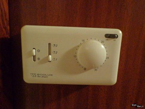 Fiecare cameră are termostat și reglaj al temperaturii