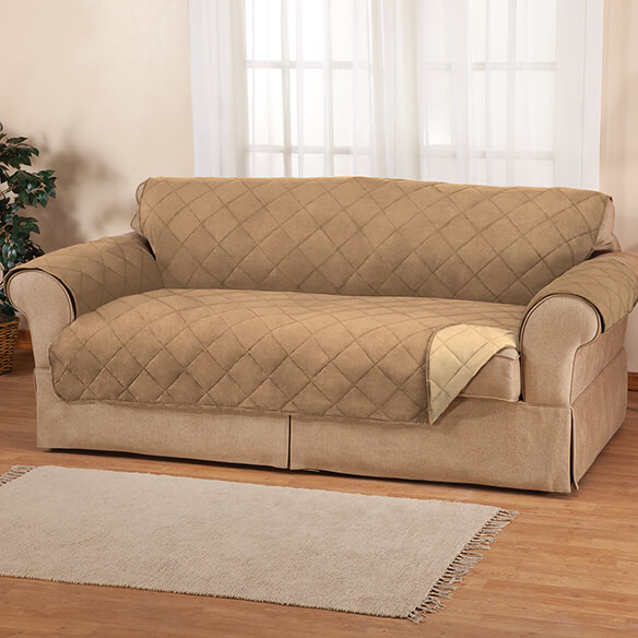 Xl Sofa Naomi Suede-microfiber Xl Sofa Cover By Oakridge - Easy