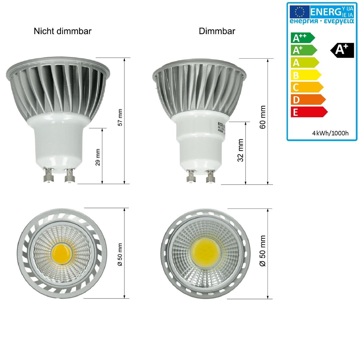 Led Birnen Gu10 Led Birnen Gu10. Gu10 Led Bulb 6w Smd Cob Spotlight 50w