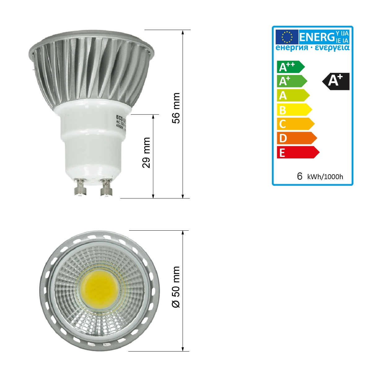 Led Gu10 10x Led Gu10 Mr16 Smd Recessed Ceiling Spotlights