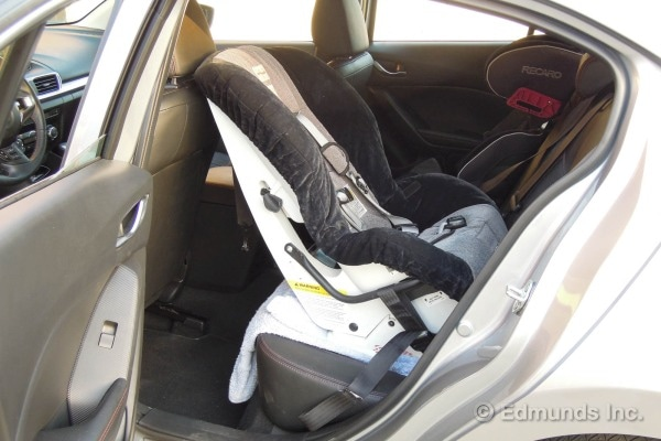 Rear Facing Car Seat Behind Driver Child Safety Seat Installation 2014 Mazda Mazda3 S Long