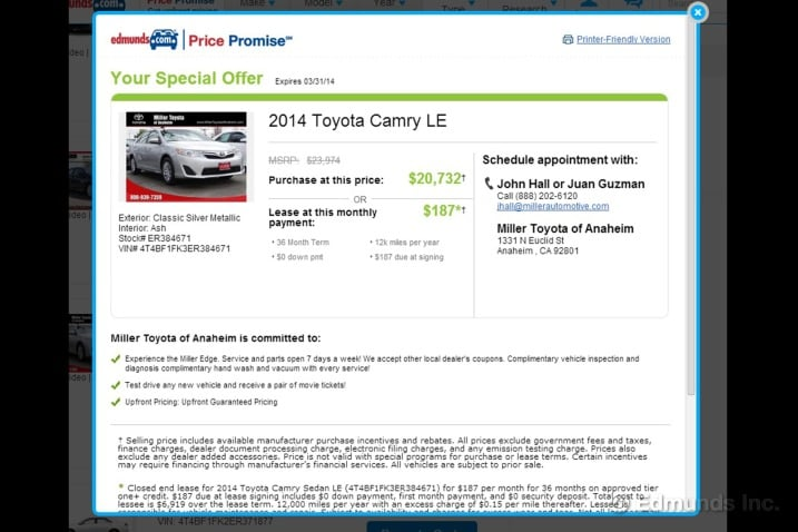 10 Steps to Leasing a New Car Edmunds - compare leasing prices