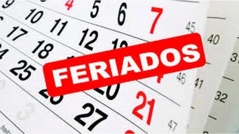 El calendario completo de feriados del 2019 FERIADOS NACIONALES