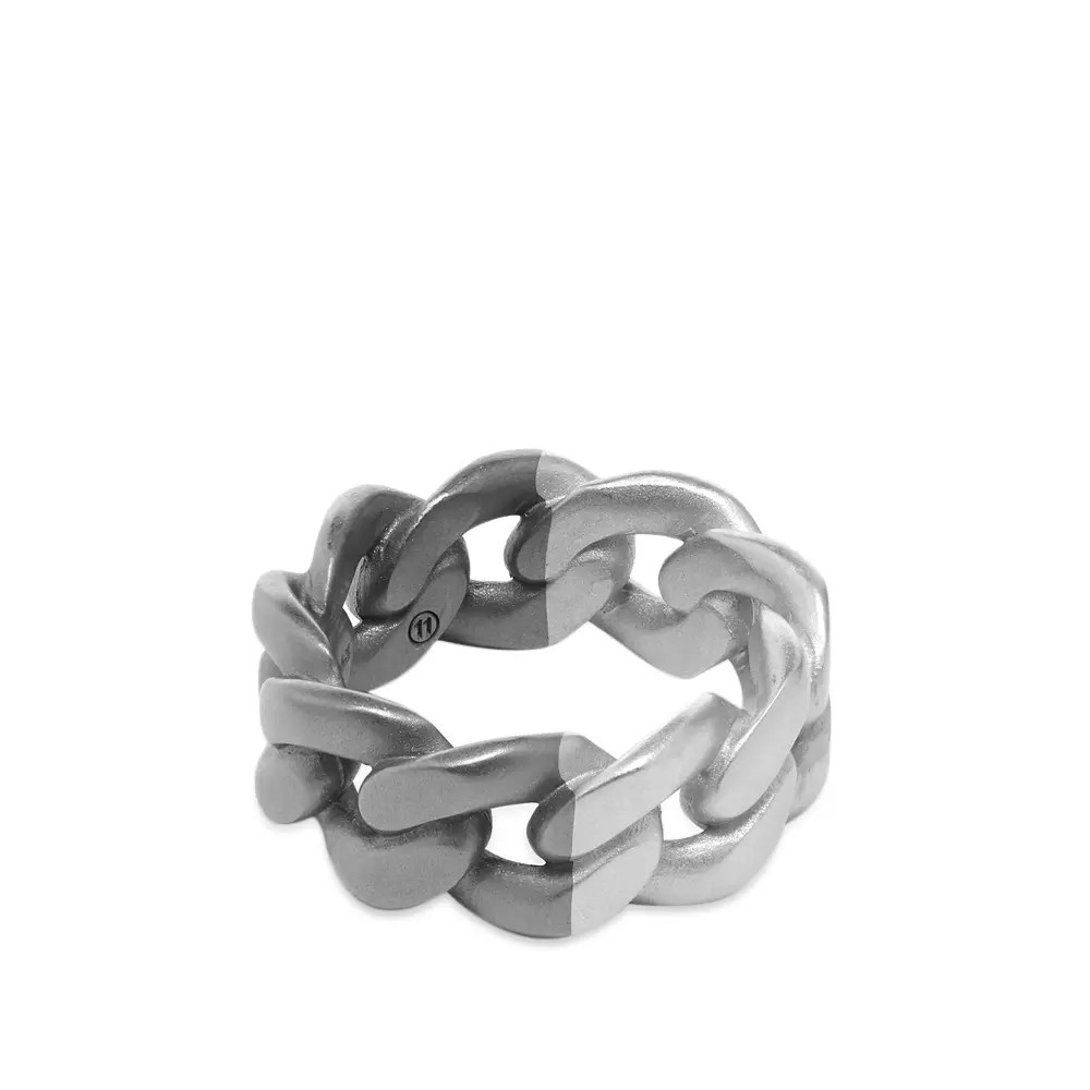 Maison Margiela 11 Bi Colour Chain Band Ring Silver