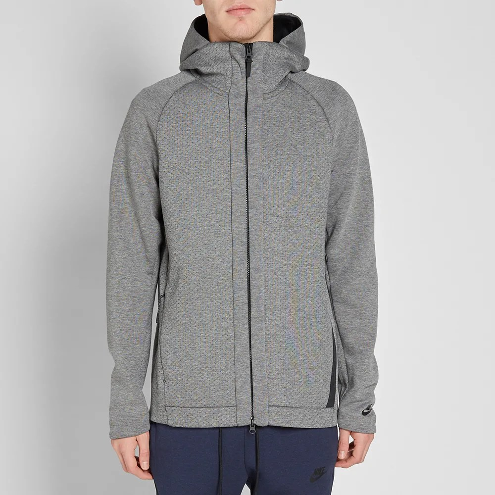 Nike Hoodie Carbon Heather Nike Tech Fleece Zip Hoody