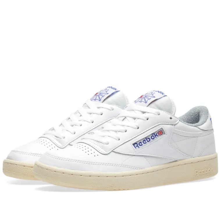 Reebok Club C 85 Vintage (White, Royal  Tin Grey) END