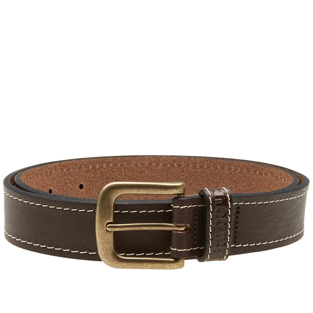 Amsterdam Gel Medium Barbour Leather Belt Brown | End.