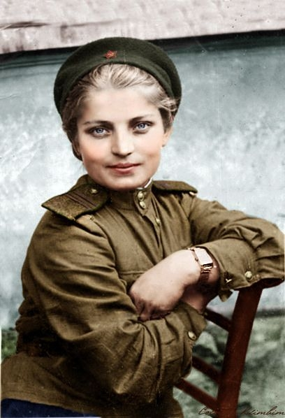 Awesome Wallpapers Girl Sniper Faces Of Russian Women And Men In Color From World War 2
