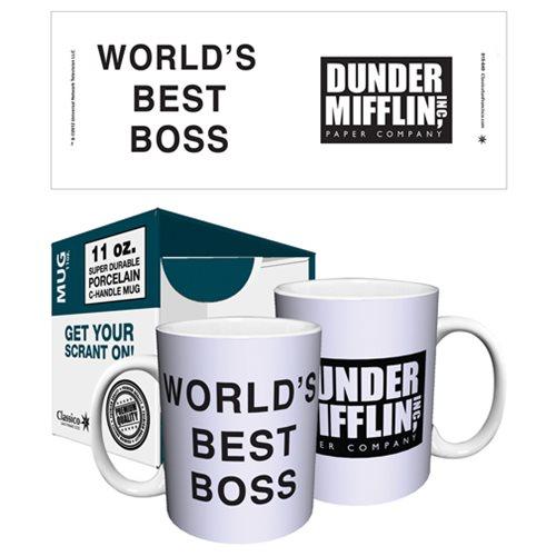 The Office Dunder Mifflin World\u0027s Best Boss 11 oz Mug