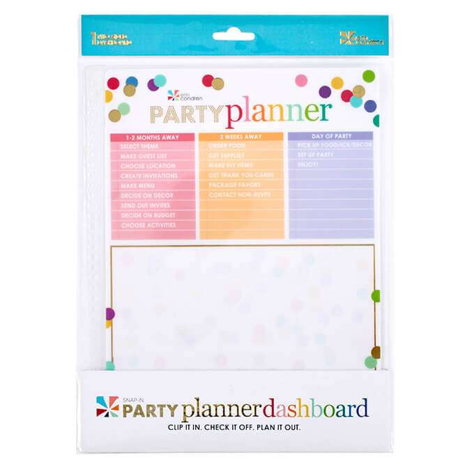 snap-in party planner dashboard