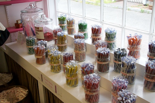 An Array of Candy Sticks at The Fudgery