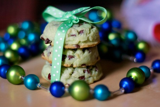 Pistachio-Cranberry Christmas Cookies
