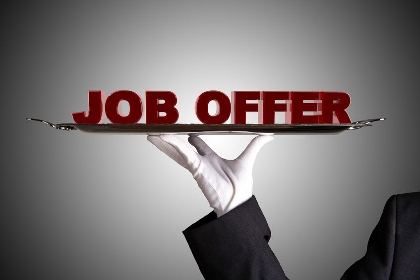 accepting the job offer