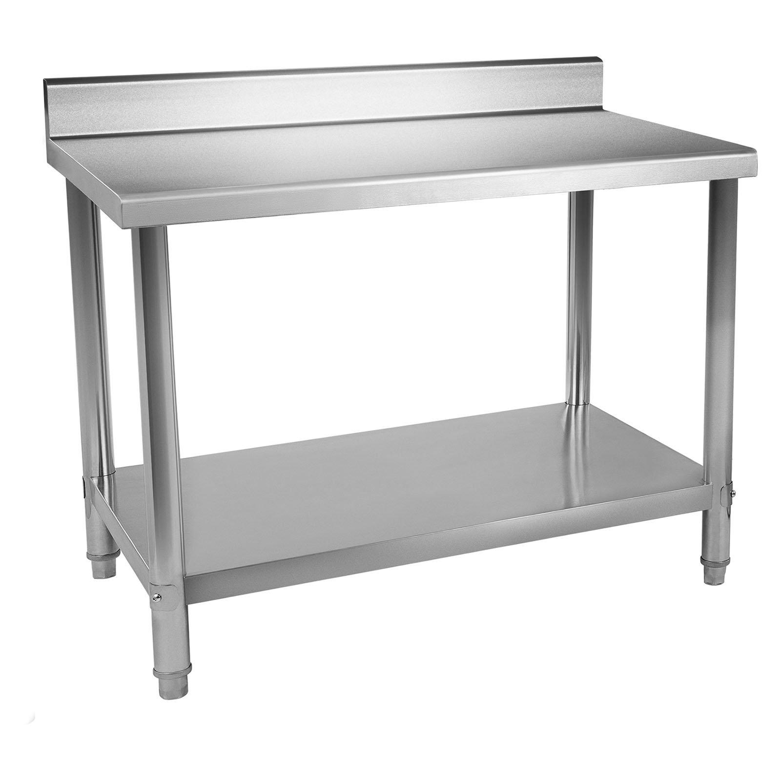 Table Inox Professionnel Table De Travail Adossee Plan Travail Etagere