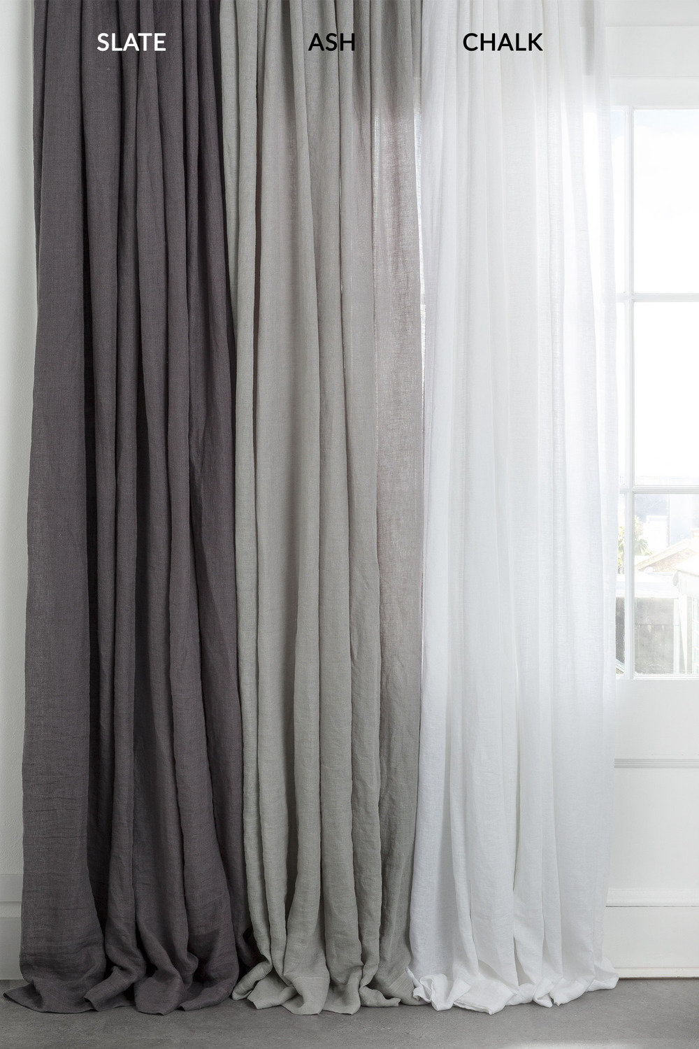 Sheer Curtains Australia Hampton Linen Curtain Set Online Shop Ezibuy Home