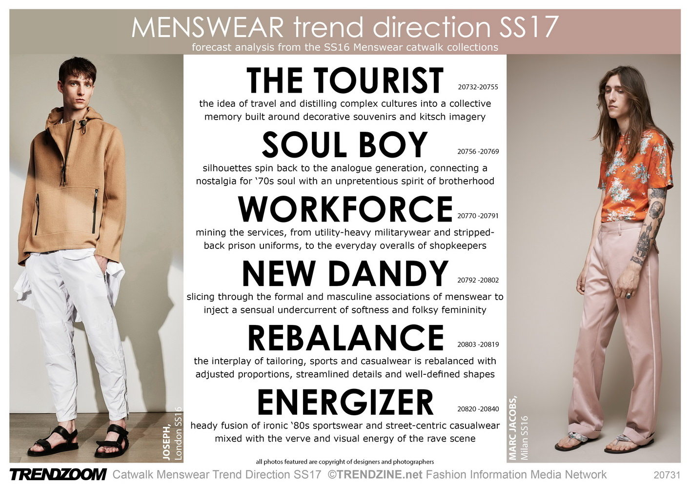 Trendzoom catwalk menswear trend direction ss 2017