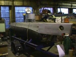 Ubåten Marlin under samövning med Marinen 2002