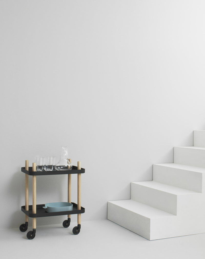 Design Couchtisch Nature Lounge Normann Copenhagen Block Trolley Dark Grey Finnish Design Shop