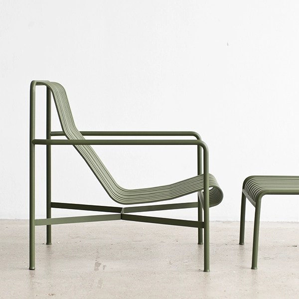 Fauteuil Exterieur Hay Hay Palissade Lounge Chair, High, Olive | Finnish Design Shop