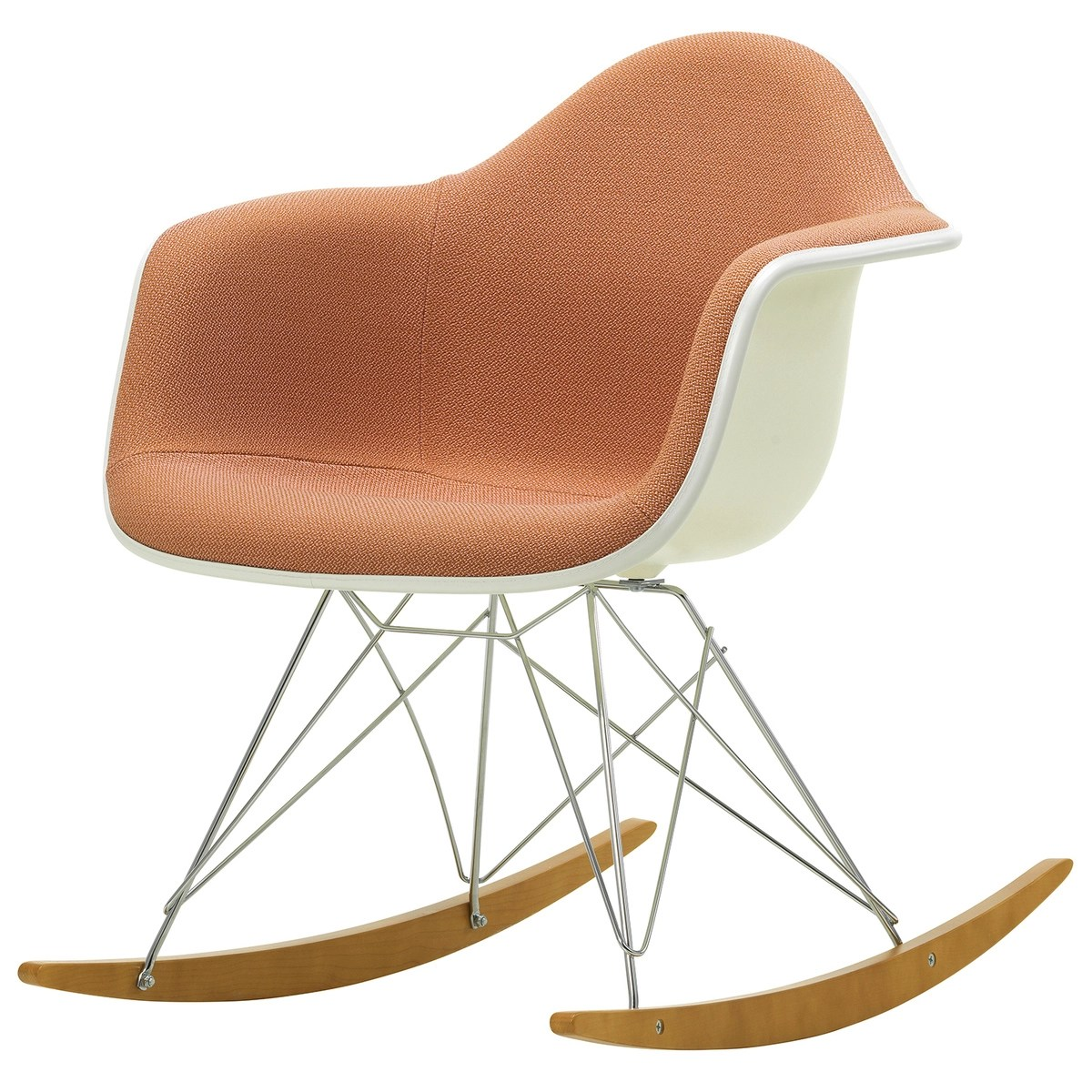 Eames Rar Eames Rar Rocking Chair Upholstered Pale Rose Cognac