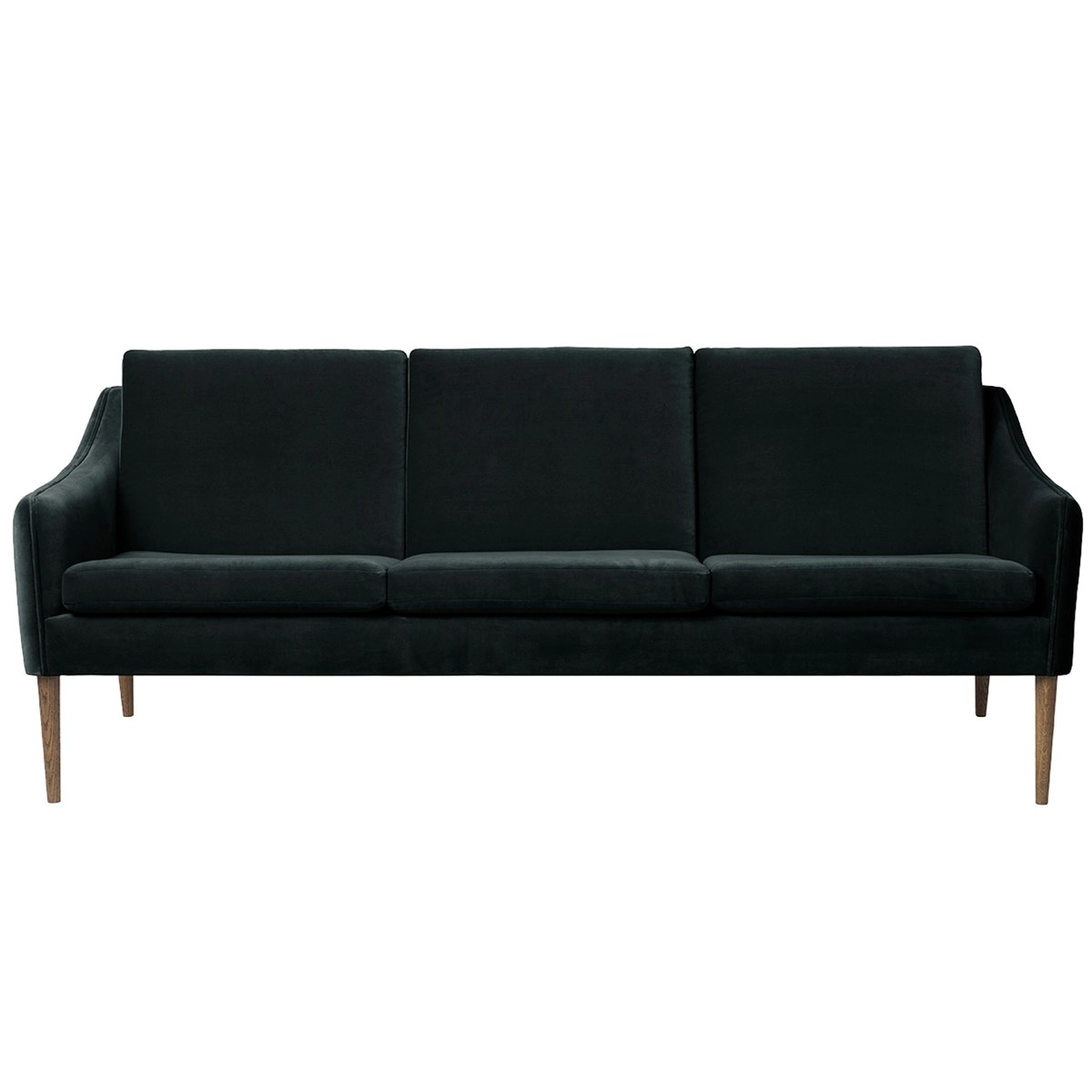 Couch Petrol Mr Olsen Sofa 3 Seater Smoked Oak Dark Petrol