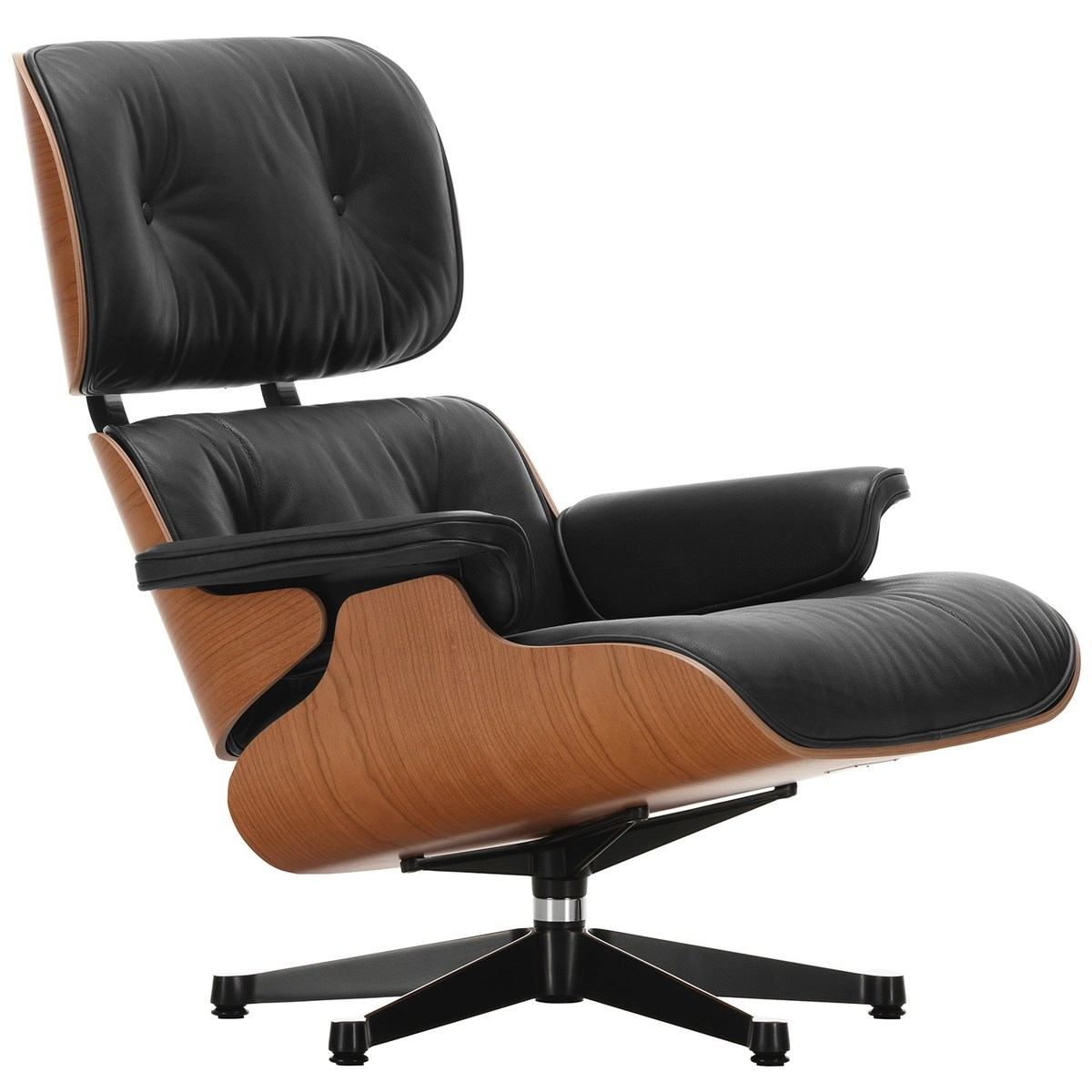 Charles Eames Lounge Chair Vitra Eames Lounge Chair, Classic Size, American Cherry - Black Leathe | Finnish Design Shop