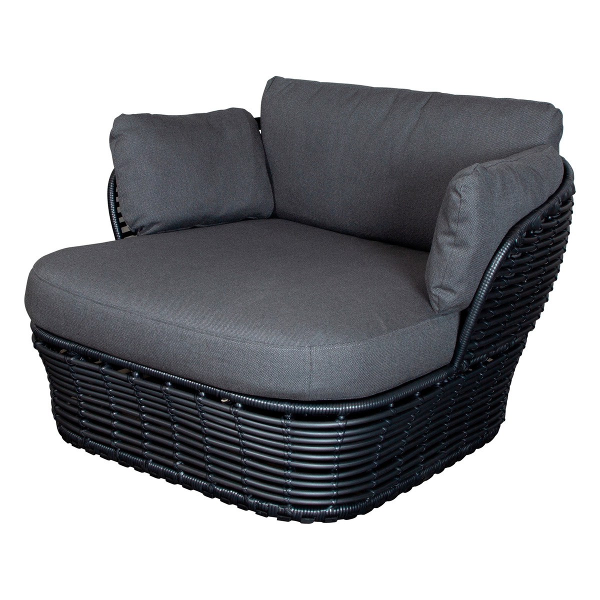 Cane Line Basket Lounge Chair Graphite Grey Finnish Design Shop