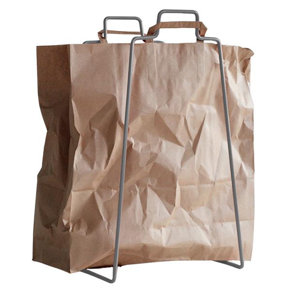 Everyday Design Helsinki paper bag holder, silver Finnish Design Shop