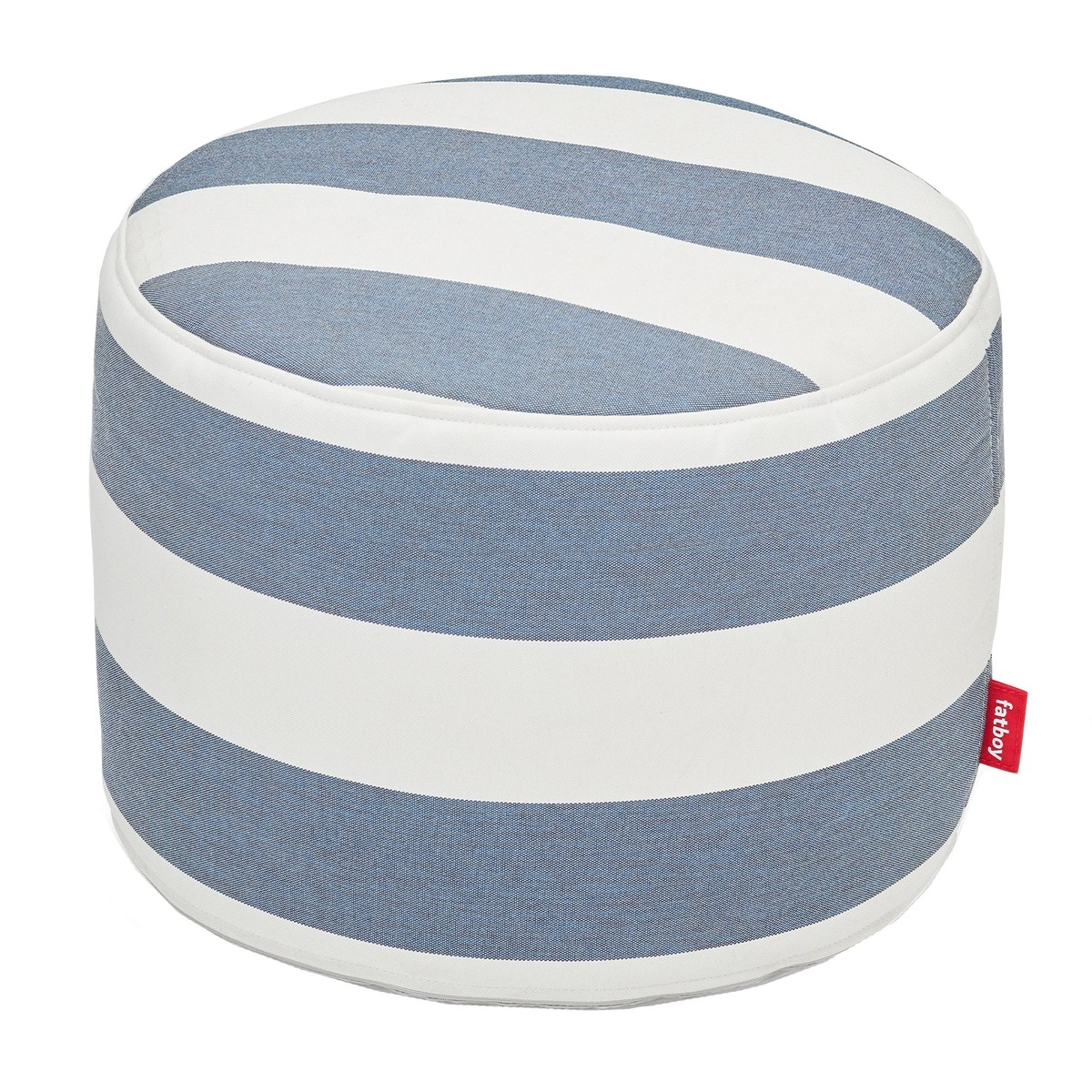 Fatboy Point Outdoor Pouf Striped Ocean Blue White Finnish Design Shop