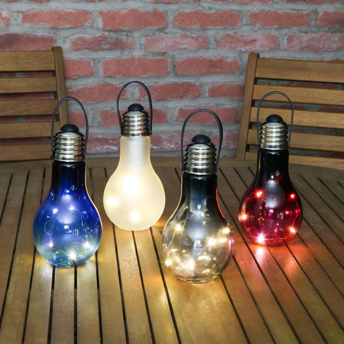 Outdoor Low Voltage Lighting Bulbs Battery Eureka Coloured Festoon Bulb, 4 Pack