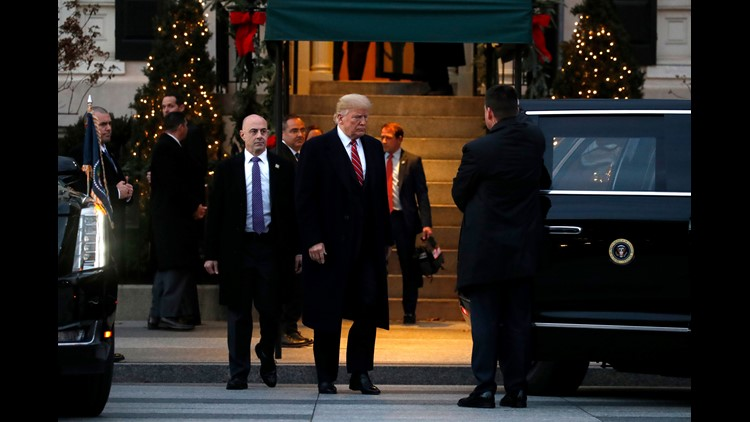 President Trump takes heat for taking 8-car motorcade across the