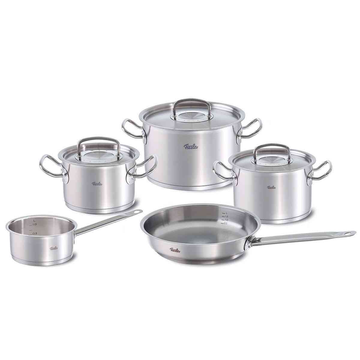 Original Profi Collection 8 Piece Set With Fry Pan And Sauce Pan Fissler Shop Fissler