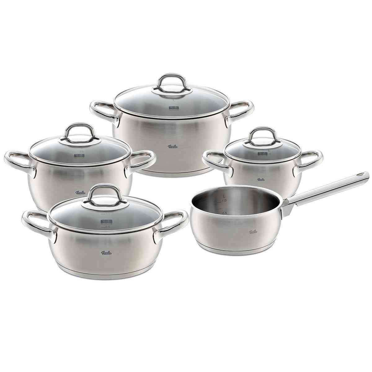 Valea Pot Set 5 Pieces Fissler Shop Fissler