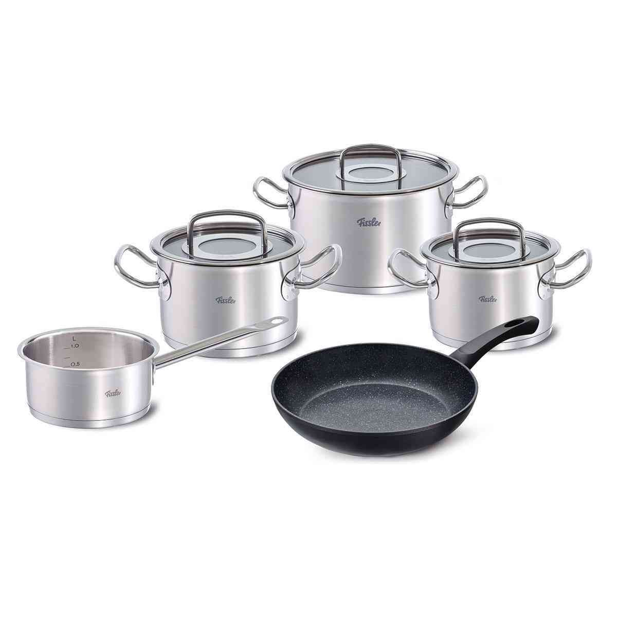 Original Profi Collection Topf Set 5 Tlg Mit Pfanne Fissler Shop Fissler