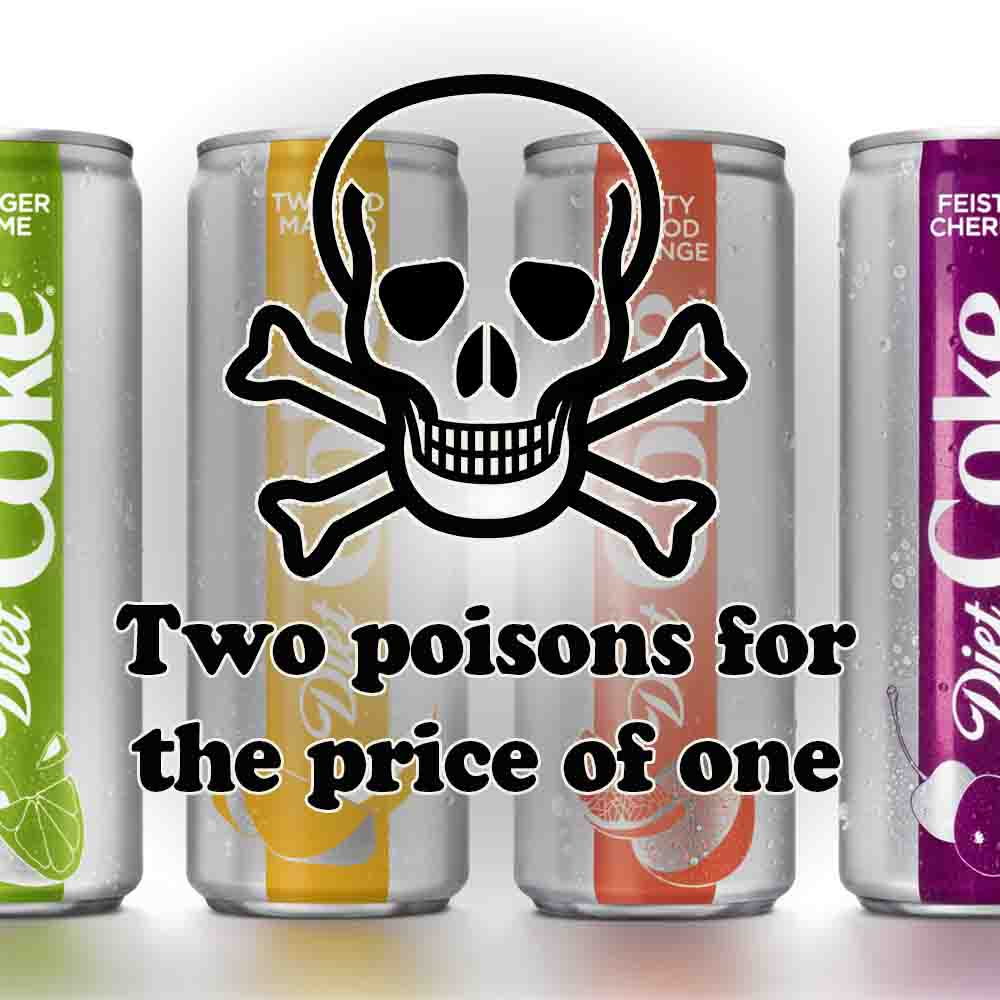 Diet Coke Diet Coke Adds New Flavors New Dangerous Ingredient Fooducate